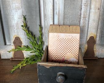 Wedding Guest Book, Address Box, Address Book, Vintage, Rose Gold Foil
