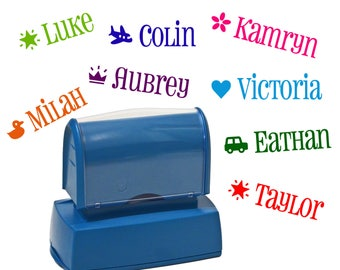 Kids custom name stamp - Personalized Children's name stamp - Kid's stamper - Self inking customized stamper