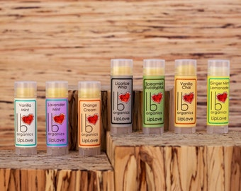 Organic Lip Balm Gift Set // You Choose 3 (New! Lavender Lemongrass in stock!)