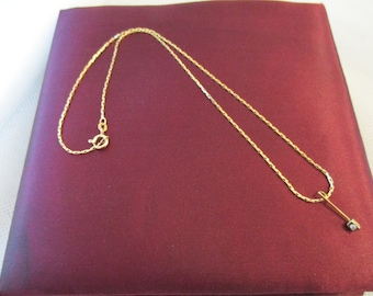 diamond pendant and gold chain 18K