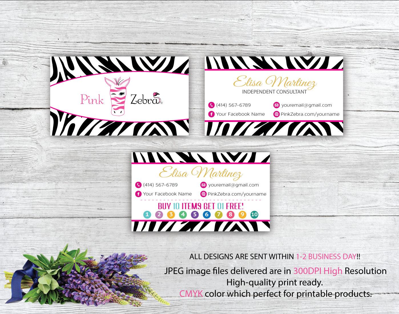 Pink Zebra Business Cards Pink Zebra Buy 10 get 1 free