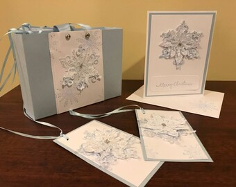 Winter Snowflake Stationary Set