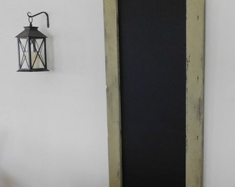 LONG SKINNY BLACKBOARD - Chalkboard - Hand Distressed Wood - Rustic Decor - Farmhouse Style - Shown in Sage - 24 x 54 - Choose Color