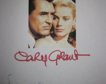 To Catch a Thief Signed Film Movie Script Screenplay Autograph Alfred Hitchcock Cary Grant Grace Kelly signature classic Hitchcock Film
