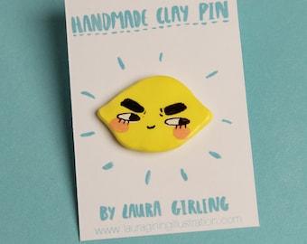 Sneaky Lemon Pin/Badge/Brooch