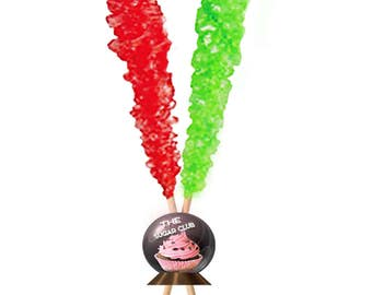 Christmas Rock Candy, Stocking Stuffer Candy, Red And Green Candy, Wrapped Christmas Candy, Xmas Hard Candy, Classic, Novelty Retro Colored