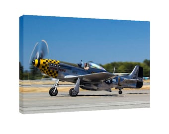 P-51 Mustang Canvas Wall Art WWII Warbird War bird fighter Airplanes