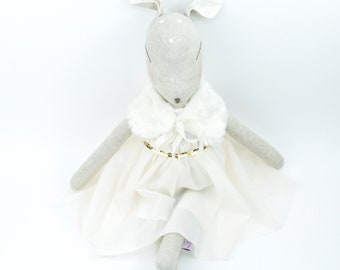 Deer Doll with Cream Dress