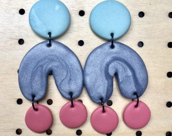 KLAY BY PIA ||| The Pastel Edit ||| The Three Tiered Statement Earrings