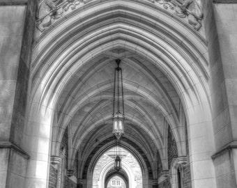 Princeton University print, Fine art print, black and white photography, architecture print, NJ wall art, Ivy League decor, college decor