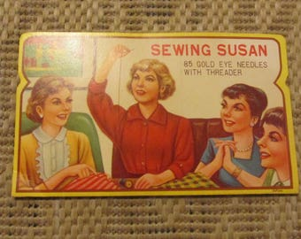 Vintage Sewing Susan Gold Eye Needles Book Package **NEARLY COMPLETE**