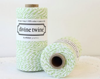 Mint Green Bakers Twine 240 Yards, Mint Divine Twine, Green & White Bakers Twine Green Twine, Green Knitting, Green String, Mint Twine
