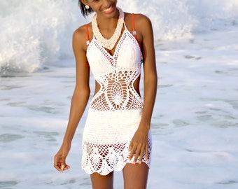 Handmade crochet dress see trough 04. Bikini cover up