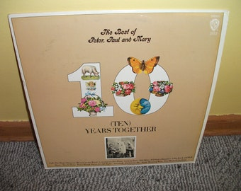 Best of Peter Paul ad Mary Vinyl Record Album  NEAR MINT - 10 Years together