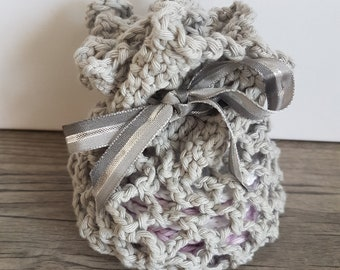 Crochet handmade pouch 100% cotton