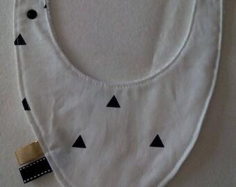White triangle bandana bib black