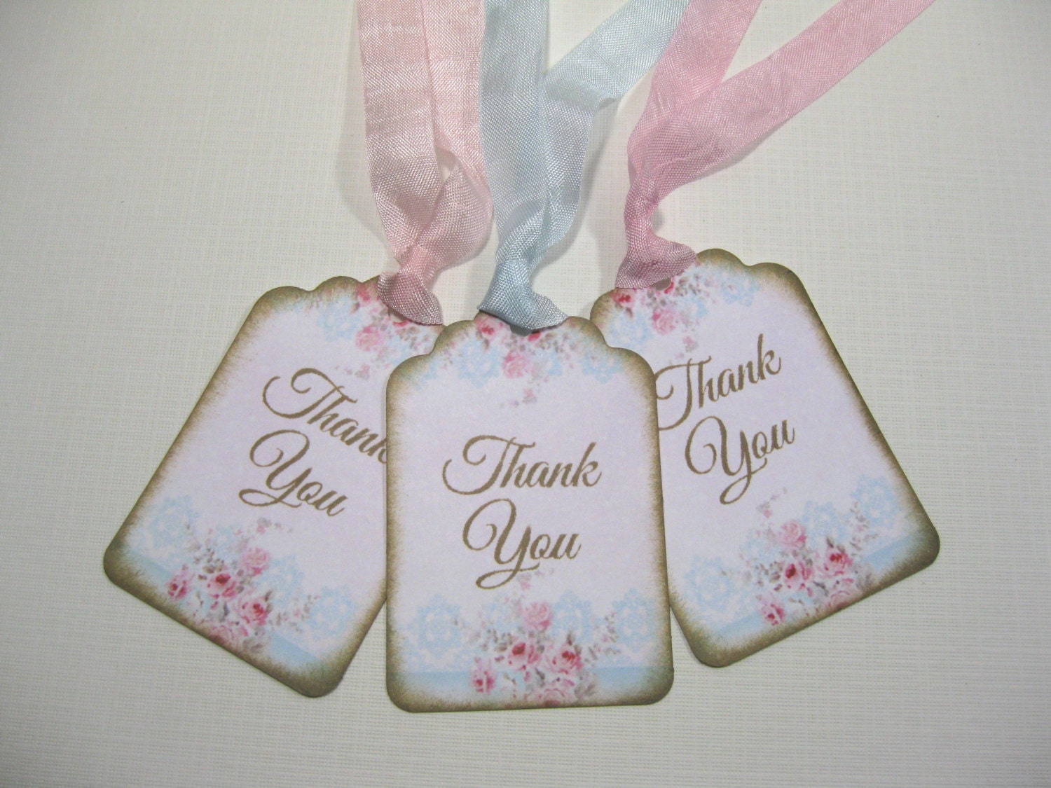 10 Wedding Tags for Favors Pink Marie Antoinette Tags