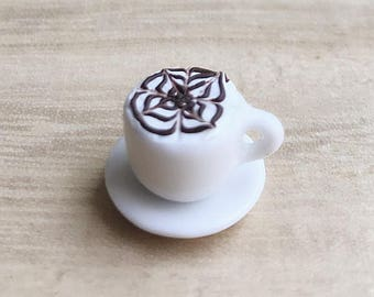 1or2 sets Miniature Coffee Cup,Miniature Coffee,Miniature Capuchino,Dollhouse Sweet,Dollhouse Coffee set,Miniature food