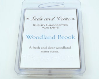 Woodland Brook: Handmade Beeswax and Soy Wax Tart Melts with a Forest Stream Fragrance