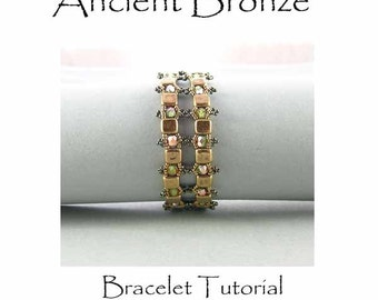 Ancient Bronze bracelet beadwoven tutorial