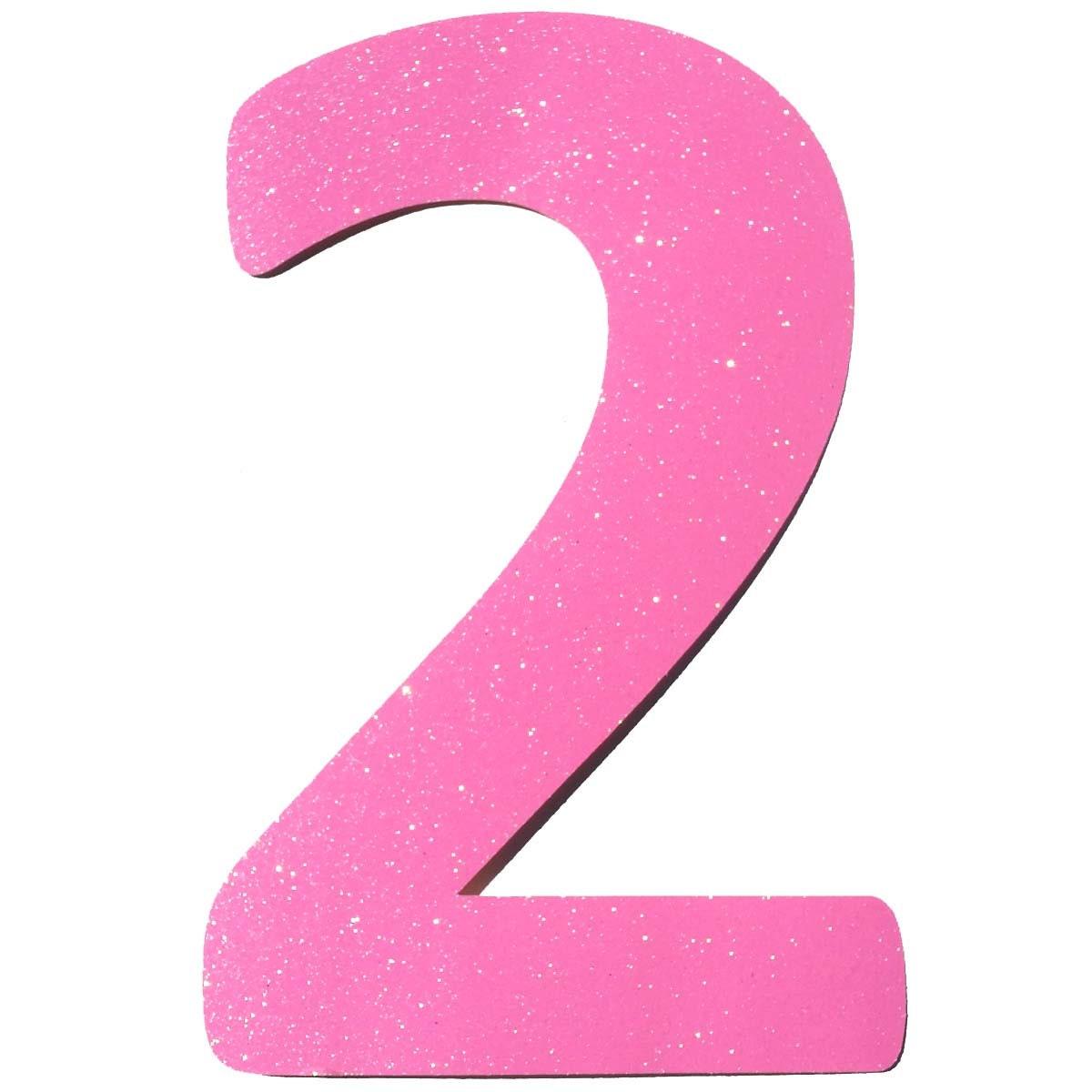 Pink Number Two Pink Two Shape Number Two Shape Number Cut