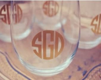 Monograms for Glassware - FREE SHIPPING