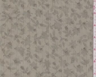 Sage Green Floral Silk Chiffon, Fabric By The Yard