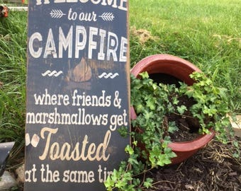 Welcome to our Campfire Sign