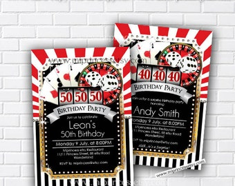 Casino party, birthday invitation, gambling, adult game, casino night, poker birthday, casino, Slot machine, jackpot, casino, card 536