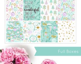 Sweet Christmas | VERTICAL KIT | Weekly Kit | Erin Condren | Planner Stickers