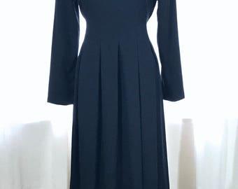 Vintage Black Dress, Vintage Dress, LBD, Little Black Dress, Orvis Dress, Vintage Black, Amish, Costume, Halloween, Witch, Tea Length