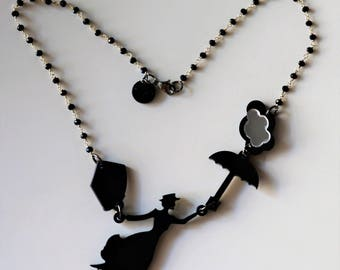Necklaces MARY POPPINS with necklaces in laser-carved plexiglass