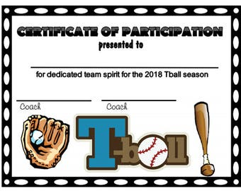 tball certificate  Item035 2018 Football Sports Certificate Digital Download