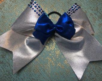 Gorgeous 2 tone cheerleading bow