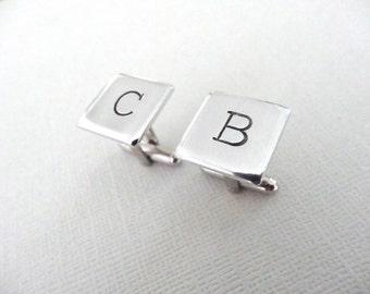 Initial Cufflinks - Personalized Cuff links