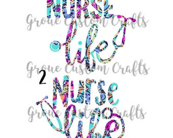Lilly Pulitzer Nurse Life Decal