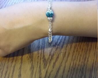 Something blue wedding bracelet
