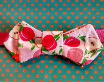 Mother's day gift... Bow tie woman... Pink apples