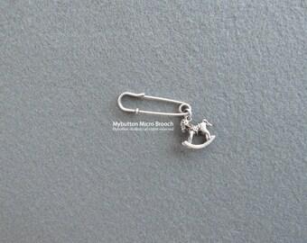 Micro charm brooch _ Rocking horse