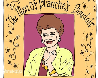 The Men of Blanche's Boudoir soft enamel pin