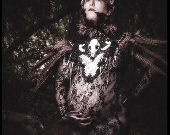OOAK Taxidermy Bonecraft Lace Collar