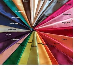 Single Standard Size Super Silky Soft Satin Pillowcases 20 plus colors available