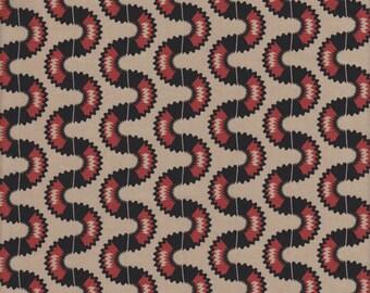 In The Beginning Fabrics Dogma Serpentine in Red and Tan - Half Yard