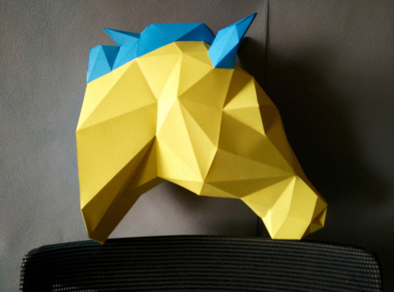Horse DIY KIT/ Room Decor/ Paper Craft/ Wall Decor/ Paper Animal ...
