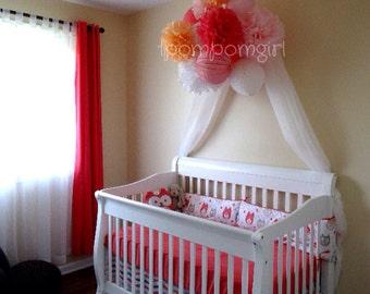 HEAVEN SCENT - 6 Tissue Paper Pom Poms/6 Paper Lanterns ... Baby Shower, Birthday, Wedding, Bridal Shower, Nursery Decor