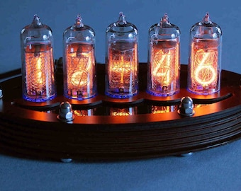 5-tube Nixie Clock V1 (DIY Kit, with paxolin top)