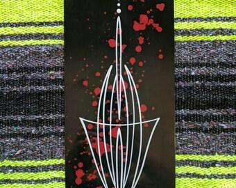 Kustom Pinstripe Art Aluminum Panel! Free Shipping!