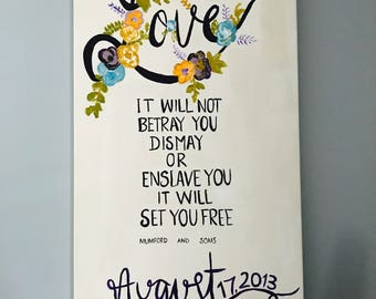 Mumford & Sons Anniversary Canvas