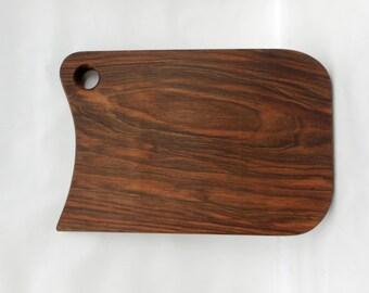 Handmade Black Walnut large solid cutting board