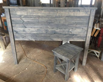 white headboard wood projects diy rustic weathered ana